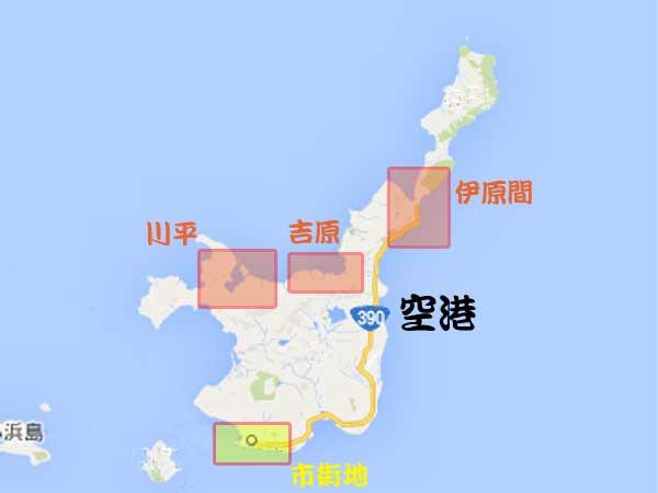 宿泊エリア別地図