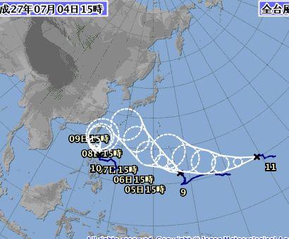 台風が三つ。。。