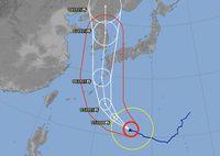 台風10号、影響は明日からかなぁ。