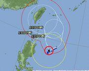 台風が石垣島を狙い撃ち