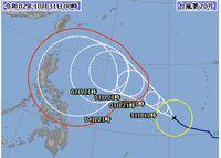 10月ですが、台風20号さん、進路が心配です