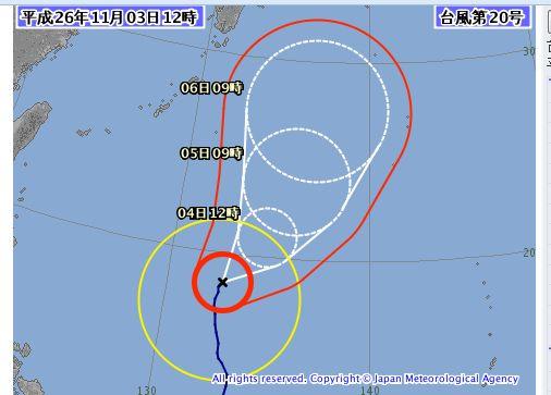 台風20号ですね。。。