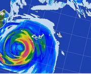 台風15号の雨雲の予報です
