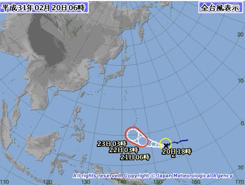 台風が発生していますね。
