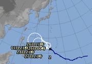 2月に台風。まだ頑張っていますね。
