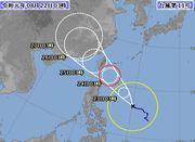 台風、すぐに近くで。