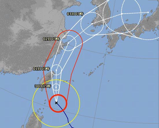 台風18号、いよいよ石垣島に