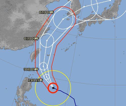 石垣島に台風18号