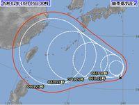 10月になってもまだ台風さん。。