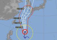 台風9号さん、近づいています。