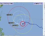 台風21号発生です。