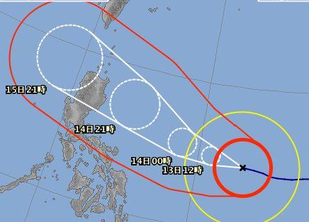 台風22号さん。そろそろかな。。。