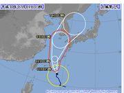 台風がきても晴れの一日です