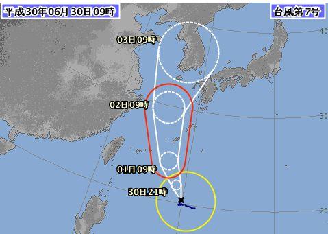 もう台風。。。7号さん石垣島に向かっております。。。