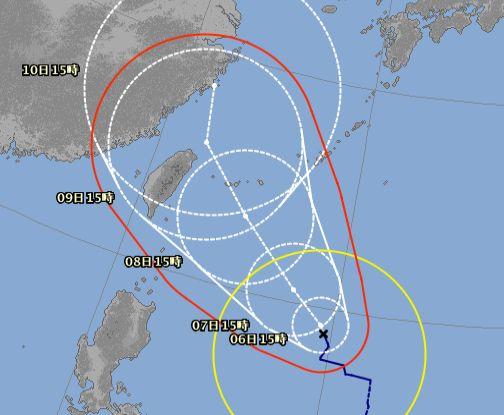 台風9号さん。。。