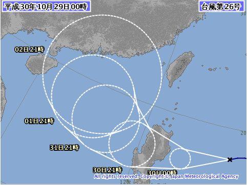 台風26号、強いうねりですね。。。