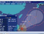 台風3号は石垣島にも影響が出る感じで。