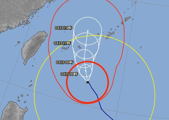 台風8号!やっかいものです