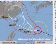 台風七号。920hpaです